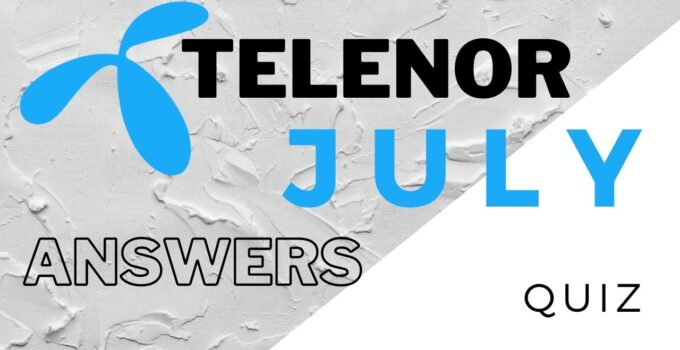 29 July Telenor Answers Today | Telenor Quiz Today 29 July 2021