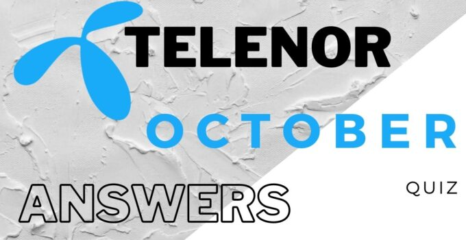 Telenor Quiz Today 07 October 2021 Answer Question – My Telenor answer today.